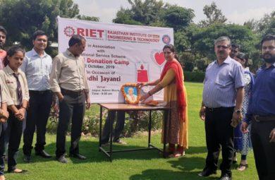 Blood Donation Camp @RIET, Jaipur
